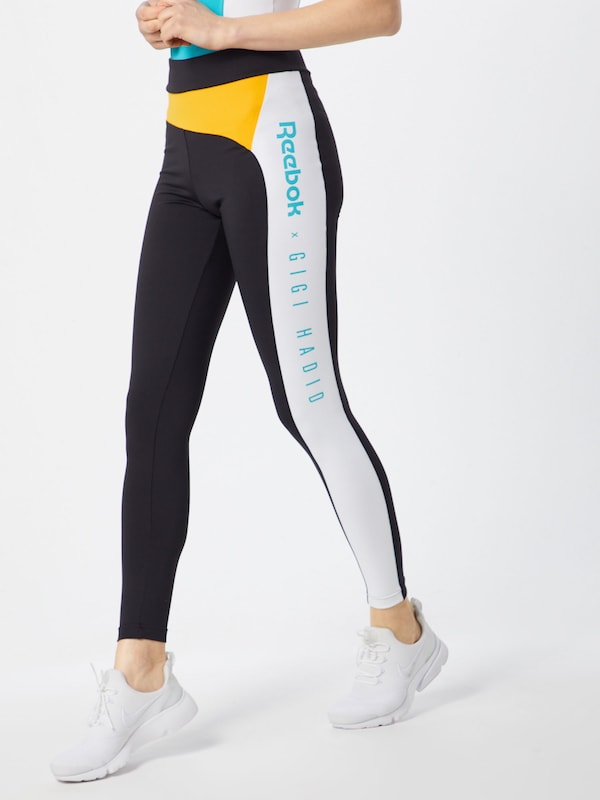 'gigi Reebok Classic JauneNoir Leggings En Legging' Blanc vmnwN80O