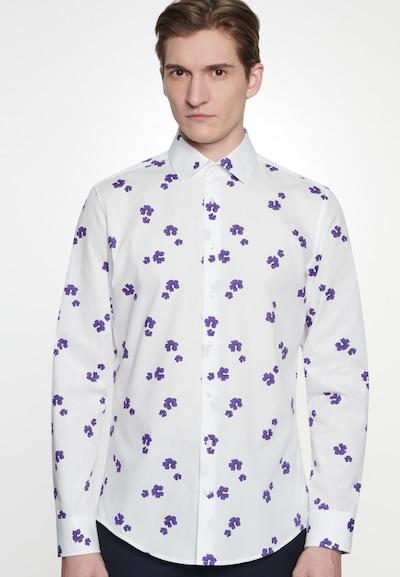 SEIDENSTICKER Hemd in lila / weiß: Frontalansicht