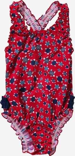 FASHY Badeanzug in blau / himmelblau / rot / weiß, Produktansicht