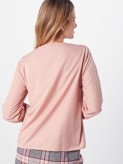 OBJECT Bluza 'OBJEILEEN L/S V-NECK TOP NOOS' | roza barva: Pogled od zadnje strani
