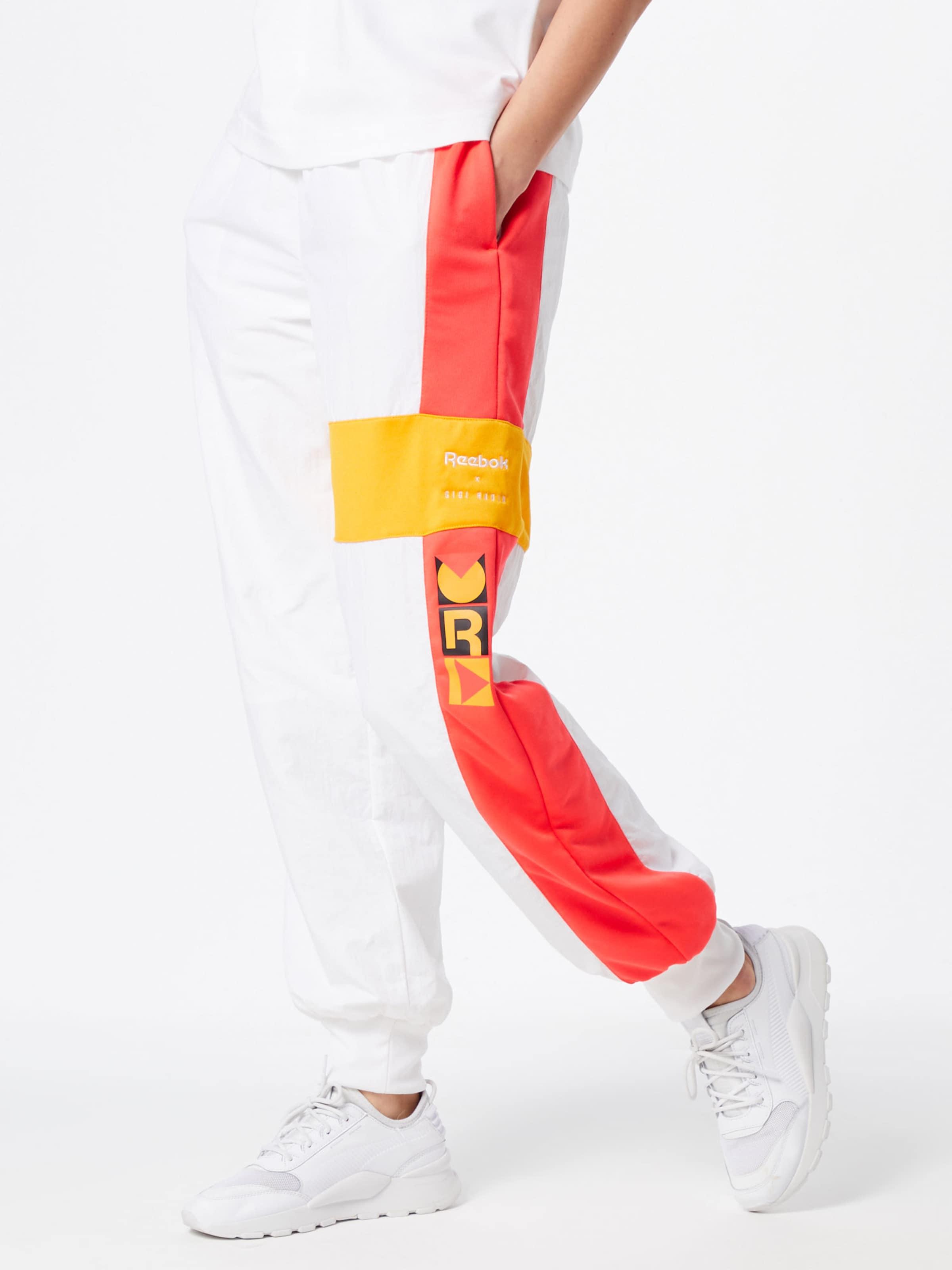 Reebok Pants' JauneOrange Blanc Pantalon Track Foncé Classic En Noir 'gigi qzMpGVSU