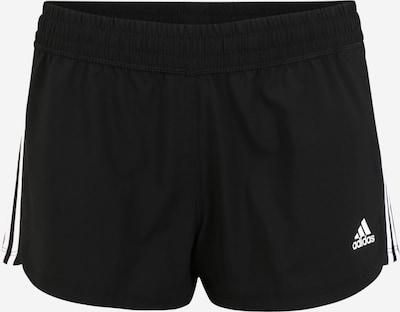 Pantaloni sport 'PACER 3S WVN' ADIDAS PERFORMANCE pe negru / alb, Vizualizare produs