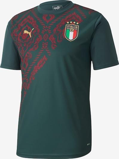 PUMA Shirt 'FIGC Italien 3rd EM 2020' in goldgelb / dunkelgrün / dunkelrot, Produktansicht