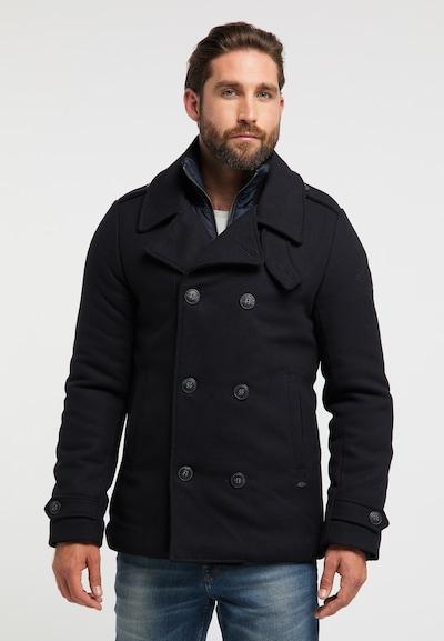 Petrol Industries Winterjas in de kleur Zwart: Vooraanzicht
