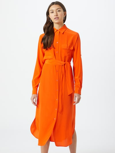 BOSS Kleid 'Callura' in orange, Modelansicht