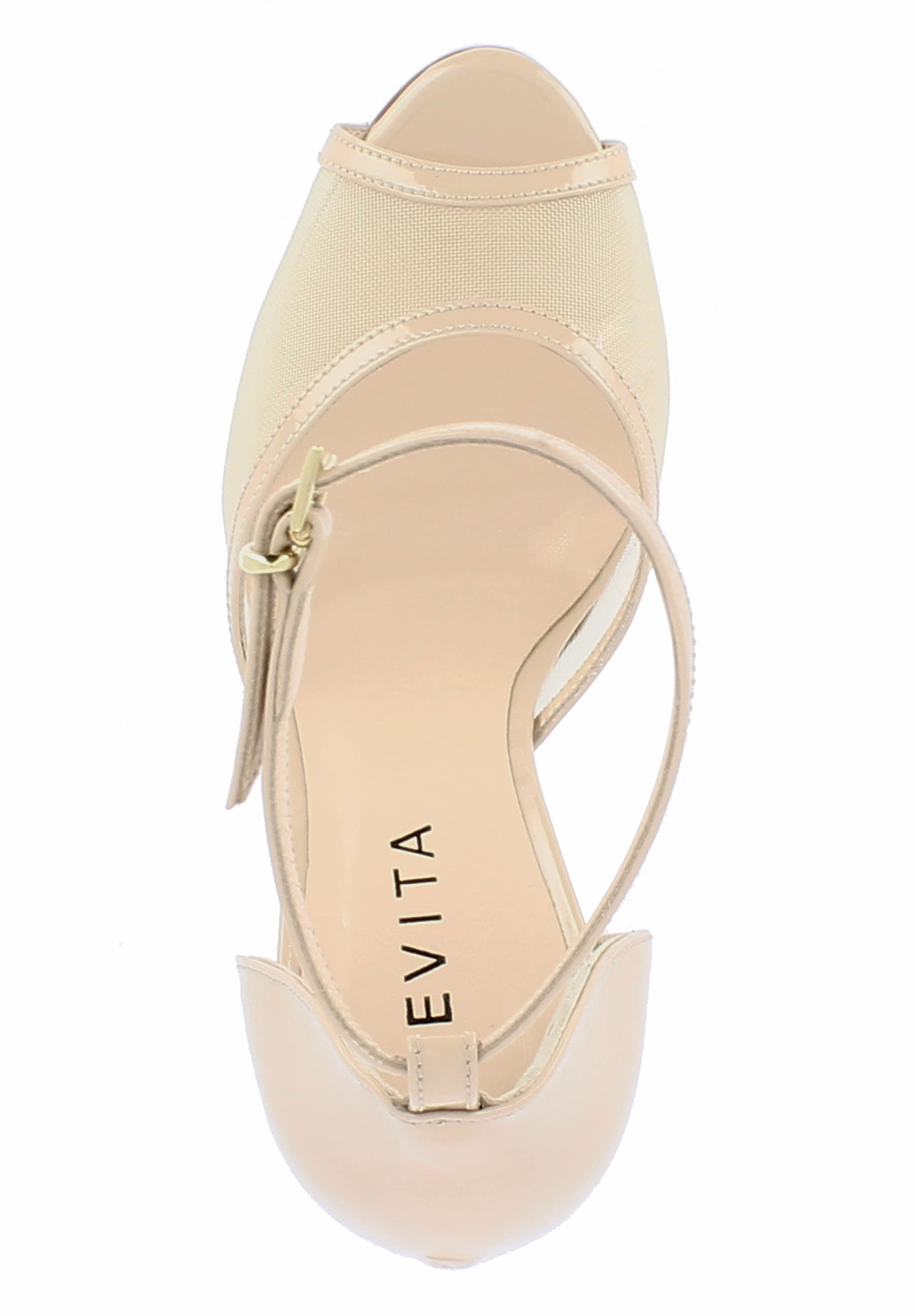 EVITA Peeptoe 'ALESSANDRA' in beige
