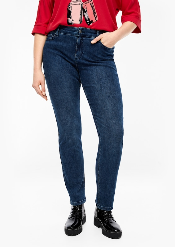 TRIANGLE Jeans in blue denim: Frontalansicht