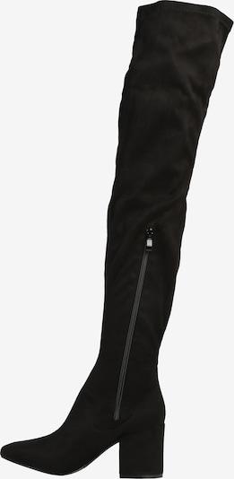 Ilgaauliai batai virš kelių 'KOLA-4' iš Raid , spalva - juoda: Vaizdas iš šono