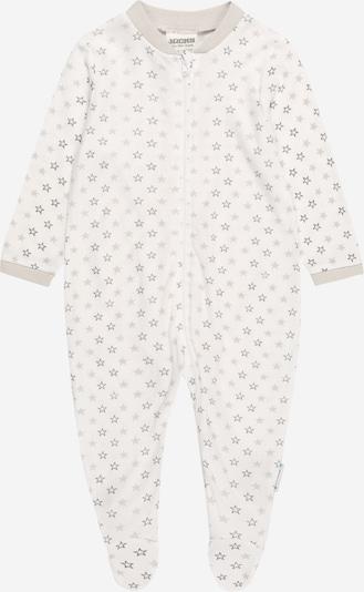 JACKY Schlafanzug in hellgrau / weiß, Produktansicht