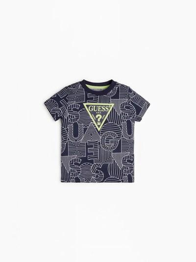 GUESS KIDS T-Shirt in ultramarinblau / weiß, Produktansicht