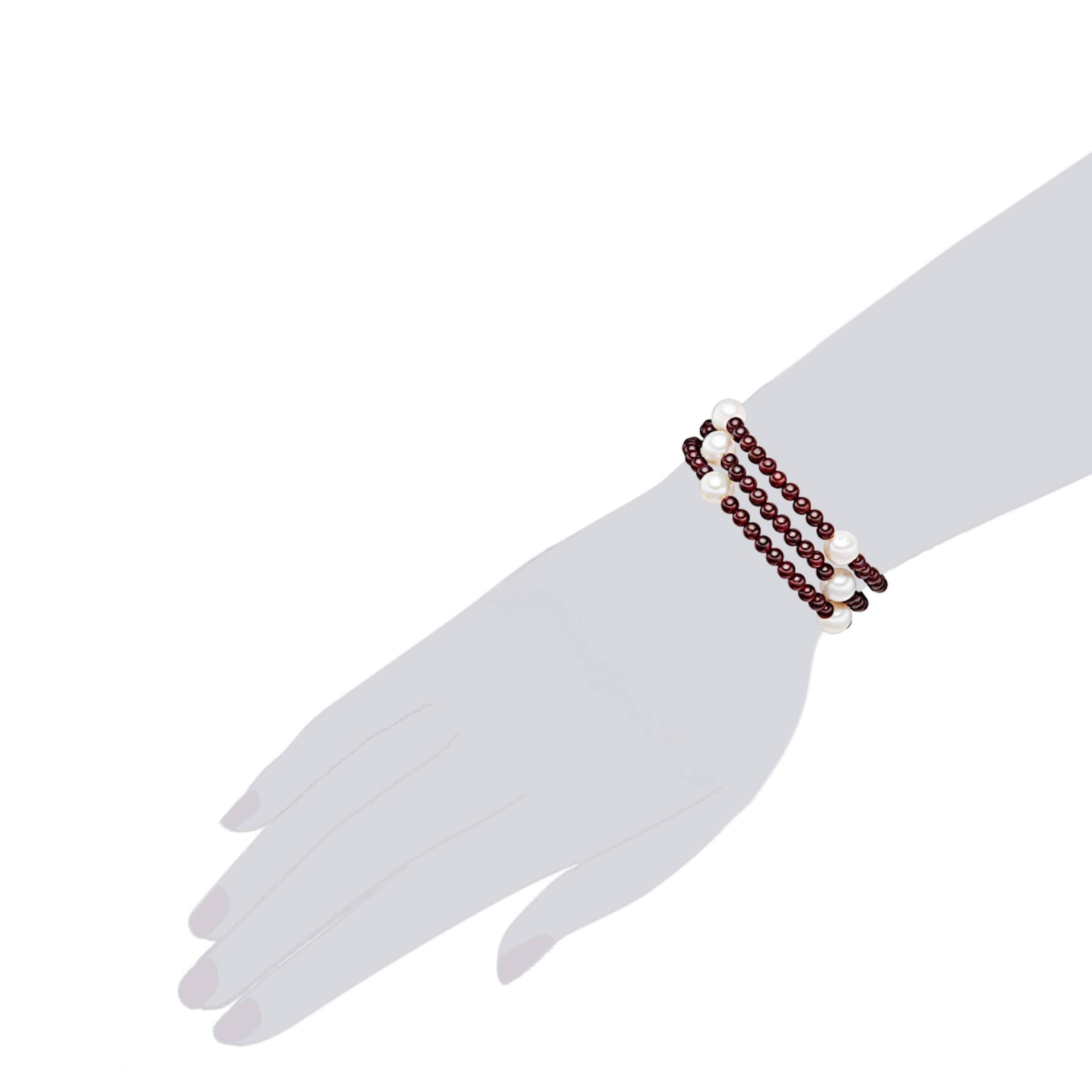 Valero Pearls Granat-Armband mit Süßwasser-Zuchtperlen Freies Verschiffen Großer Verkauf Outlet Rabatte Günstig Kauft Niedrigen Versand Die Billigsten Footlocker Bilder Verkauf Online Vzi8wvL