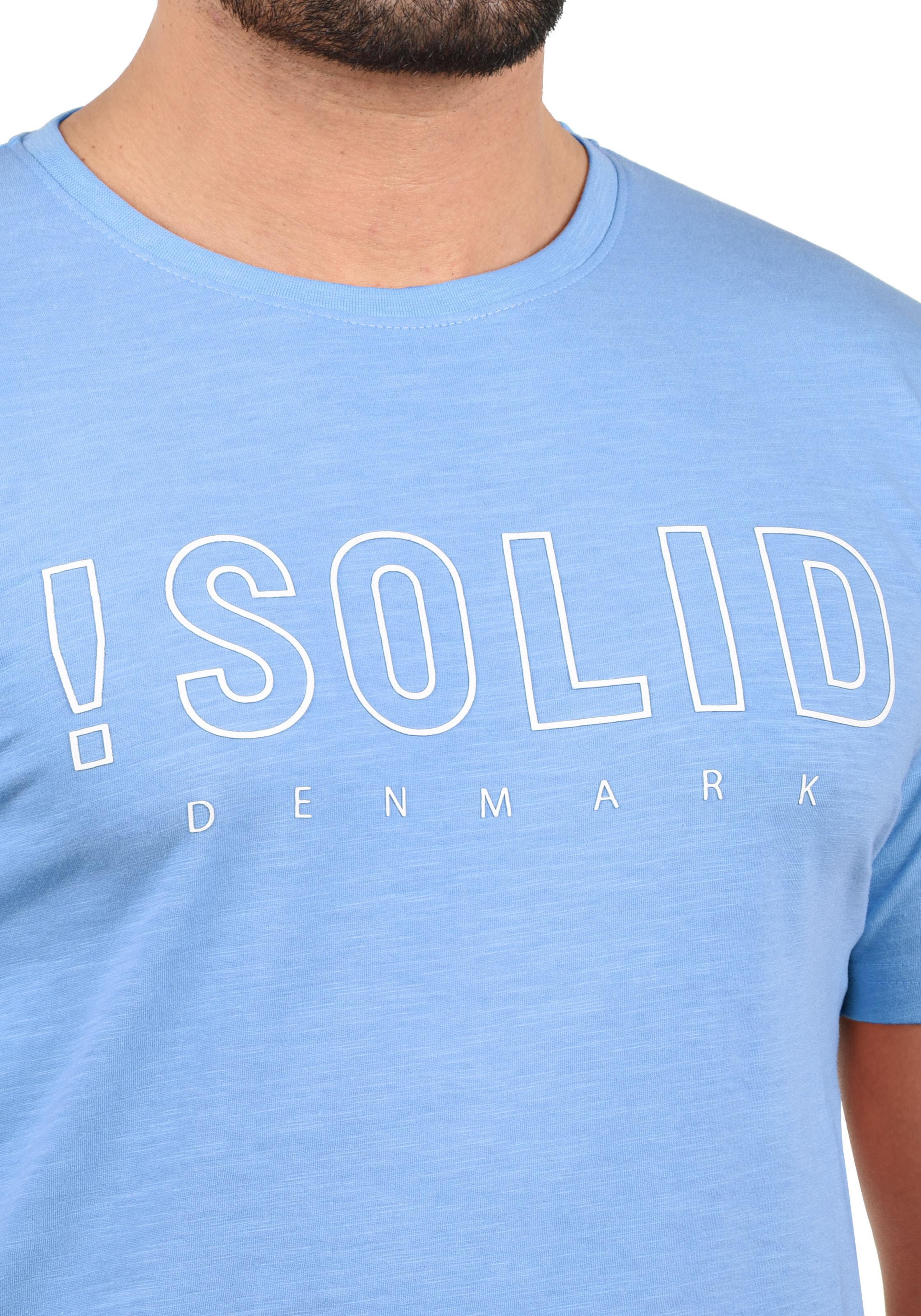 Rundhalsshirt Rundhalsshirt Solido In Blau In solid Solido Blau solid b7y6fgY