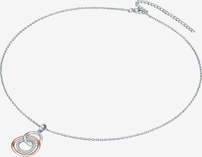 Rafaela Donata Halskette mit Drei-Ringe-Anhänger in rosegold / silber / transparent, Produktansicht