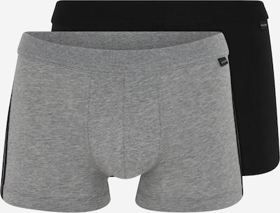 SCHIESSER Boxers en gris / noir, Vue avec produit