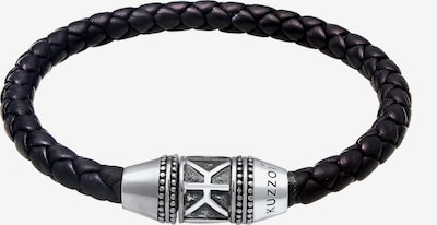 KUZZOI Armband in schwarz / silber, Produktansicht