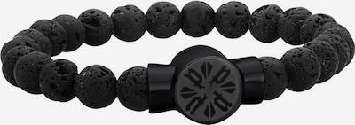 POLICE Armband 'P-Circle' in schwarz: Frontalansicht