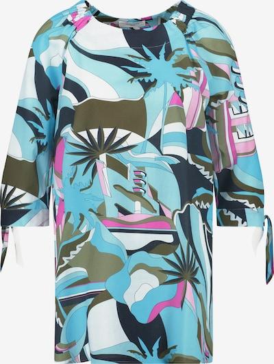GERRY WEBER Bluse 3/4 Arm Tunika mit Knotendetails organic cotton in blau, Produktansicht