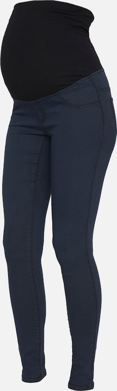 MAMALICIOUS Umstandsjeggings in navy, Produktansicht