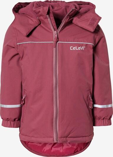 CELAVI Winterjacke in pastellrot / weiß, Produktansicht