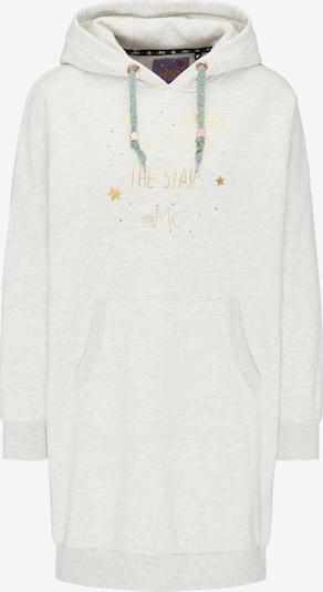 MYMO Sweatshirtkleid in gold / weißmeliert, Produktansicht