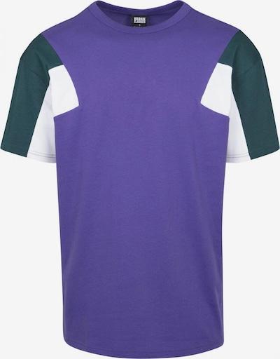 Urban Classics T-Shirt in petrol / dunkellila / weiß, Produktansicht