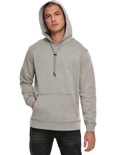Urban Classics Sweater majica 'Two Face Hoody' u siva: Prednji pogled