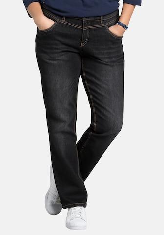 SHEEGO Jeans in Schwarz