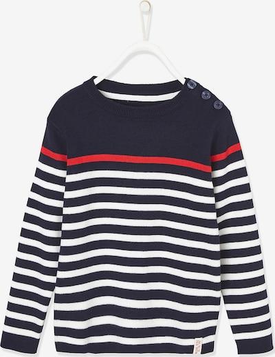VERTBAUDET Pullover in blau / rot / weiß, Produktansicht