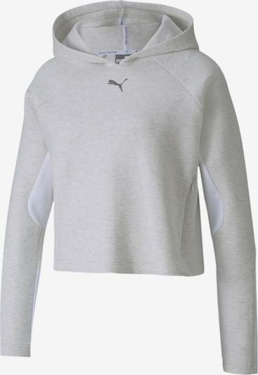 PUMA Sweatshirt 'Evostripe' in graumeliert / weiß, Produktansicht