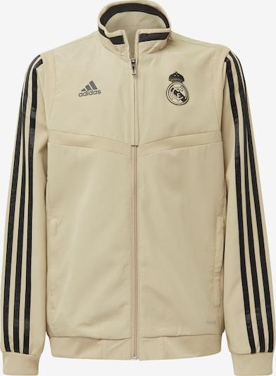 ADIDAS PERFORMANCE Jacke 'Real Madrid' in beige / schwarz, Produktansicht