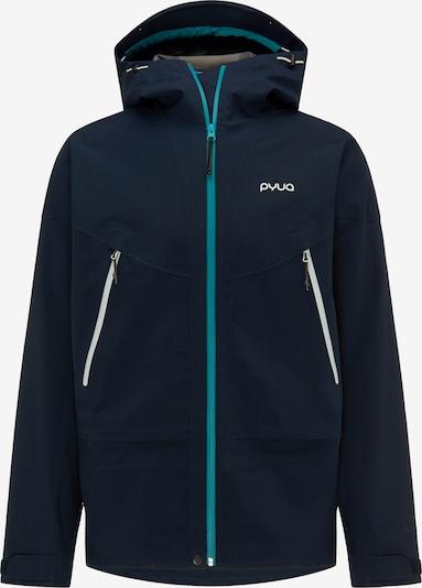 PYUA Outdoorjas 'Gorge-Y' in de kleur Blauw, Productweergave