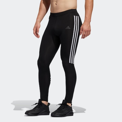 ADIDAS PERFORMANCE Sportbroek 'Run It' in de kleur Zwart: Vooraanzicht