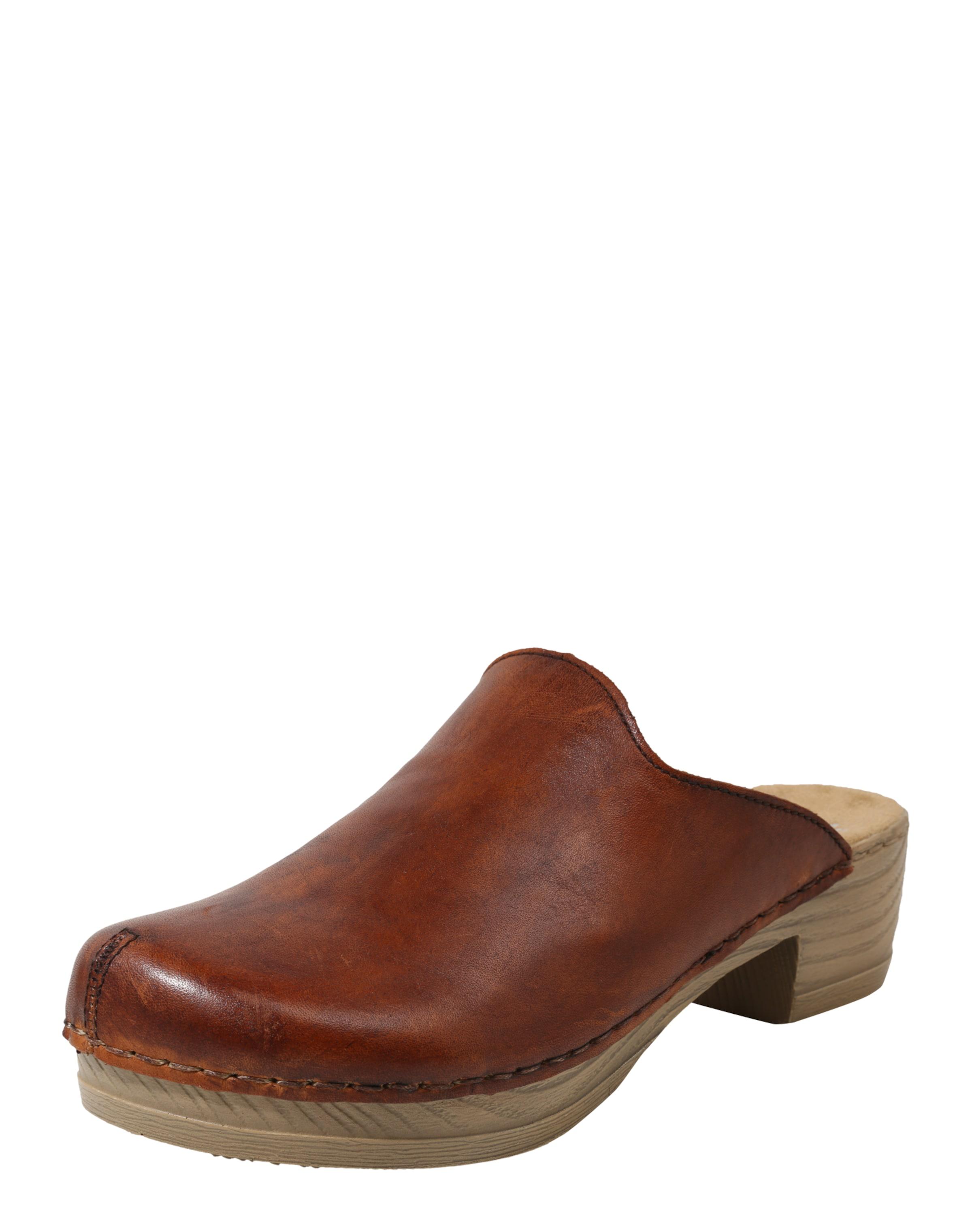 RIEKER Clog aus Leder Verschleißfeste billige Schuhe
