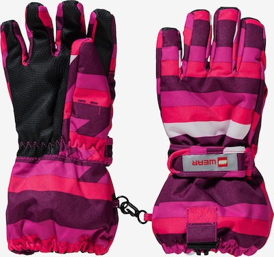 LEGO WEAR Skihandschuhe in pink, Produktansicht