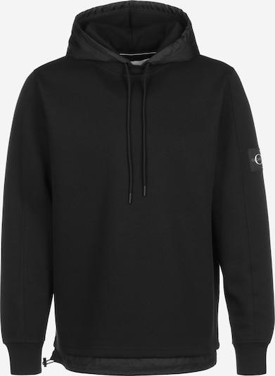 Calvin Klein Jeans Hoodie ' Mixed Media Nylon ' in schwarz, Produktansicht