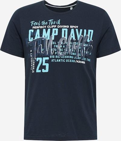 CAMP DAVID Shirt in nachtblau / taubenblau / hellblau / weiß, Produktansicht