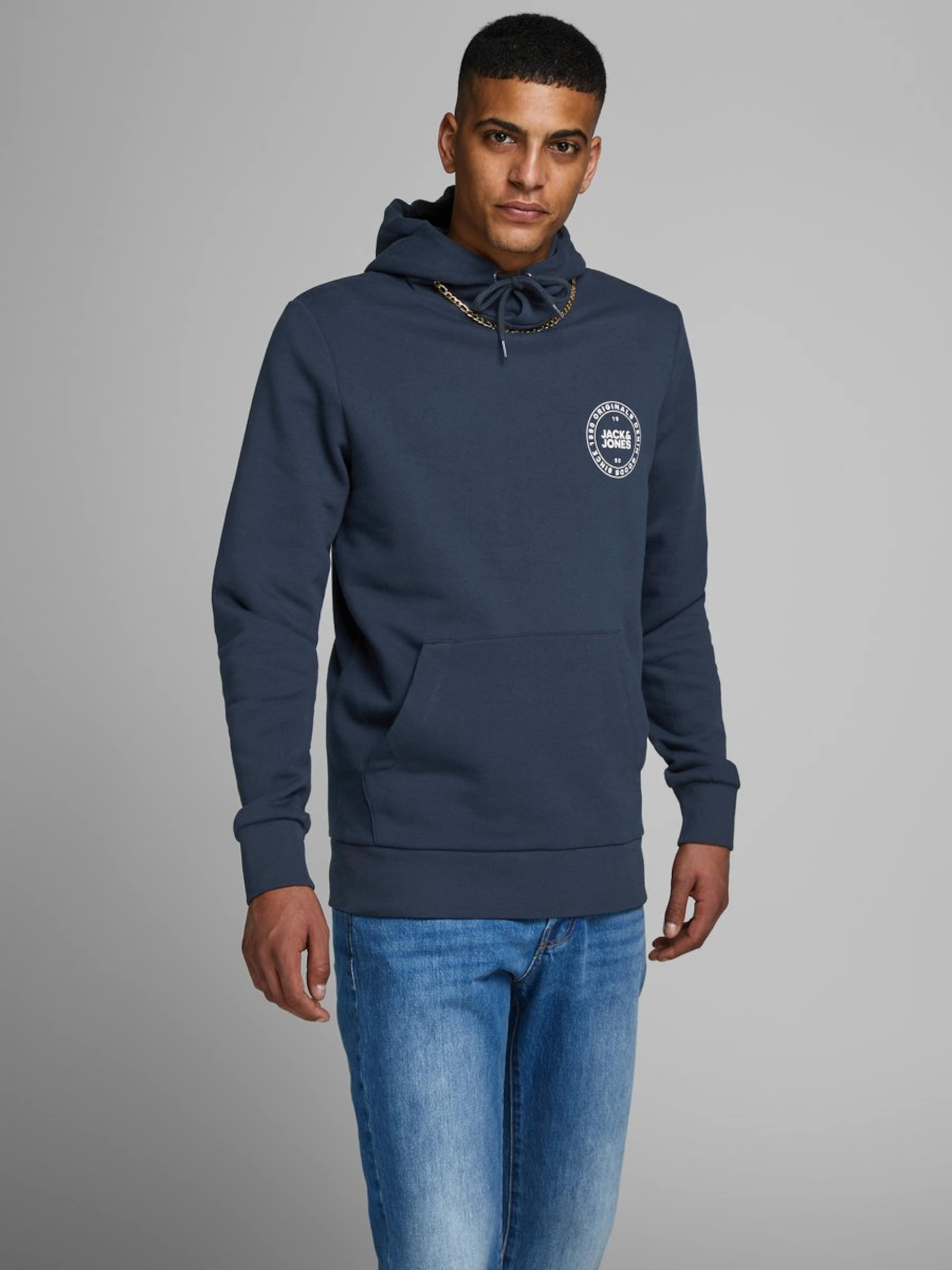Sweatshirt Sweatshirt In In NavyWeiß Jackamp; Jackamp; Jones NavyWeiß Jones 3ARjqc45L