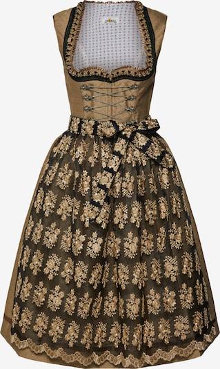 ALMSACH Kleid 'Dirndl' in gold / schwarz, Produktansicht