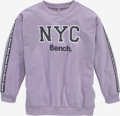 BENCH Sweatshirt in flieder / schwarz / weiß, Produktansicht