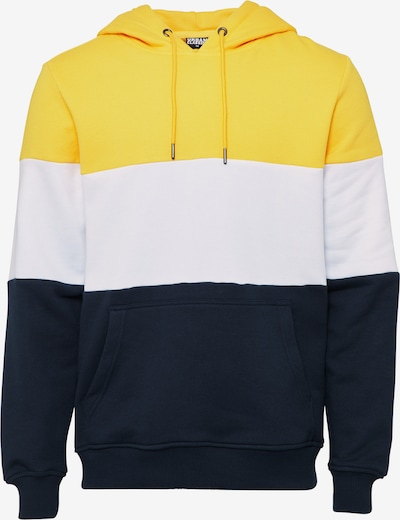 Bluză de molton Urban Classics pe navy / galben / alb, Vizualizare produs