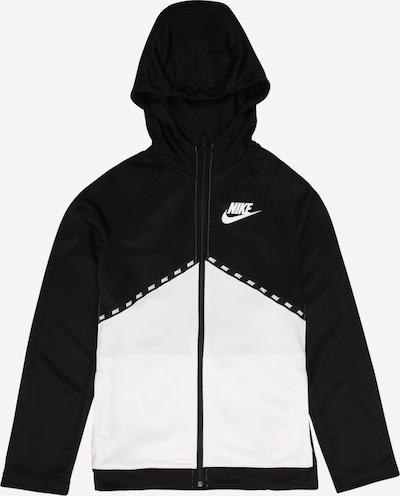 Nike Sportswear Sweatjacke in schwarz / weiß, Produktansicht