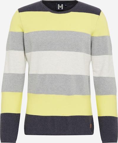 Hailys Men Pullover 'Finn ' in creme / gelb / grau / schwarz, Produktansicht