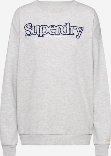 Superdry Sweatshirt 'APPLIQUE SERIF CREW' in de kleur Grijs: Vooraanzicht