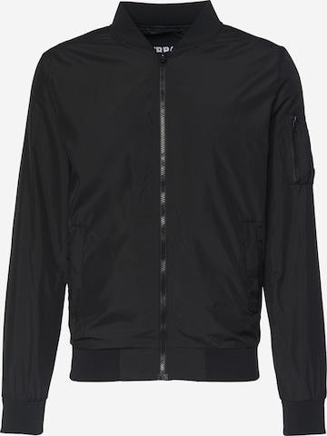 melns Urban Classics Starpsezonu jaka 'Light Bomber Jacket'