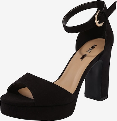 ABOUT YOU Sandalette 'CAITRIONA' in schwarz: Frontalansicht