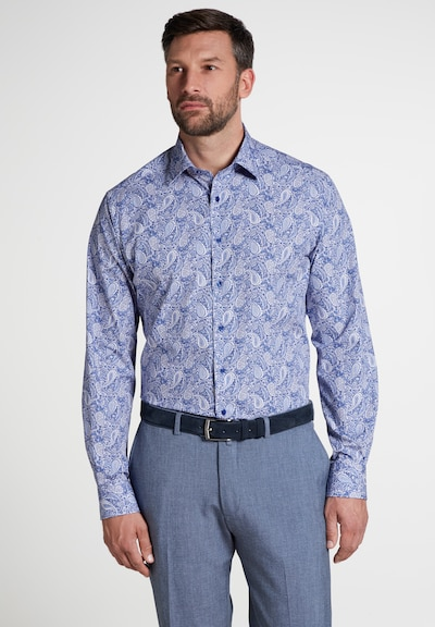 ETERNA Hemd in blau / rauchblau / weiß, Produktansicht
