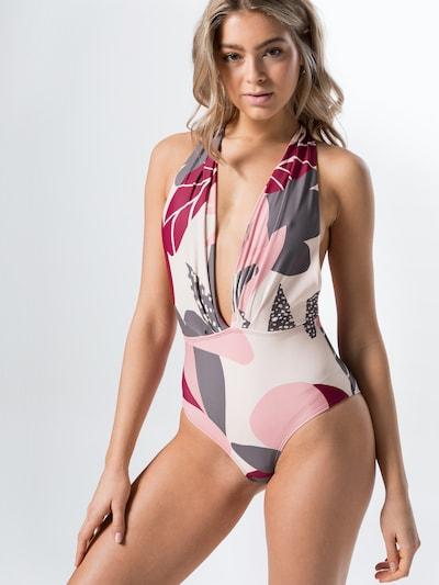Hunkemöller Jednodielne plavky - ružová, Model/-ka