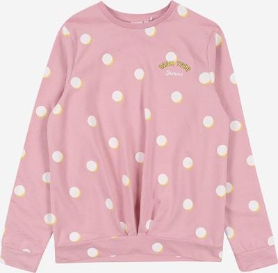 NAME IT Sweat-shirt 'DRUDE' en jaune / rose / blanc, Vue avec produit