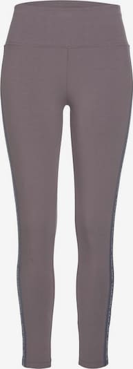 LASCANA ACTIVE Leggings in greige / dunkelgrau / weiß, Produktansicht