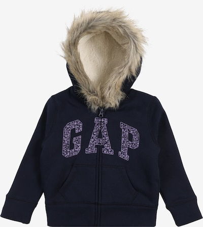 GAP Sweat 'V-LOGO COZY FZ' en bleu marine: Vue de face